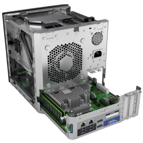Сервер HPE ProLiant MicroServer Gen10 (Tower, Opteron X3216, 1600 МГц, 2 ядра, 1 Мб, 1x8гб, 3.5
