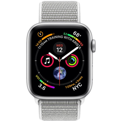 Watch Series 4 GPS, 40mm Silver Aluminium Case with Seashell Sport Loop