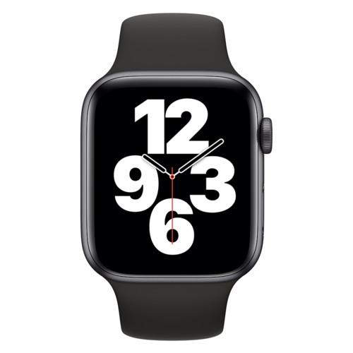 Apple Watch SE GPS 44mm Space Gray Aluminium Case with Black Sport Band - Regular (MYDT2GK/A)