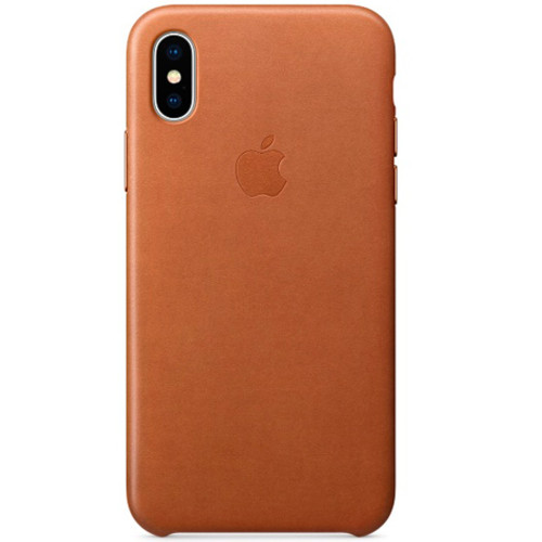 Аксессуары для смартфона Apple Чехол для iPhone X Leather Case - Saddle Brown (MQTA2ZM/A)
