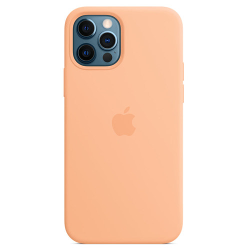 Аксессуары для смартфона Apple Чехол для iPhone 12 Pro Max Silicone Case with MagSafe - Cantaloupe (MK073ZM/A)