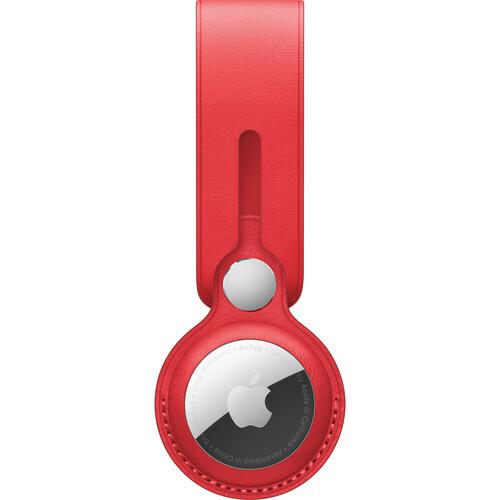 Аксессуары для смартфона Apple AirTag Leather Loop - (PRODUCT)RED (MK0V3ZM/A)