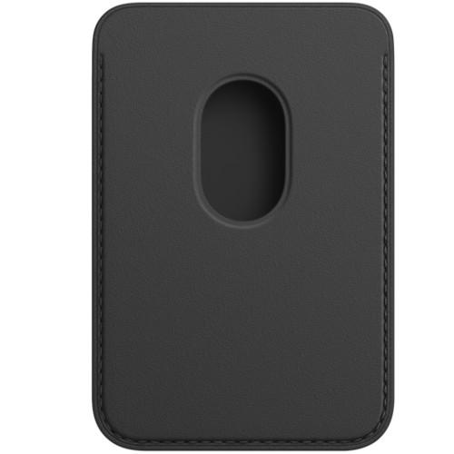 Аксессуары для смартфона Apple Чехол iPhone Leather Wallet with MagSafe - Black (MHLT3ZM/A)