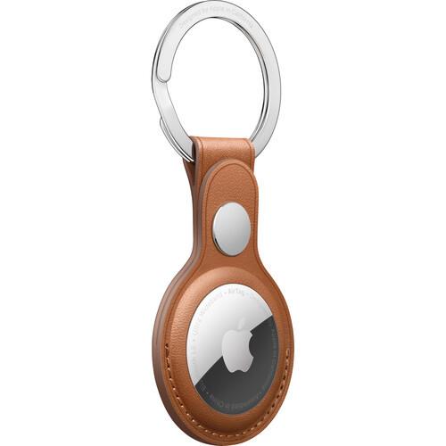 Аксессуары для смартфона Apple AirTag Leather Key Ring - Saddle Brown (MX4M2ZM/A)