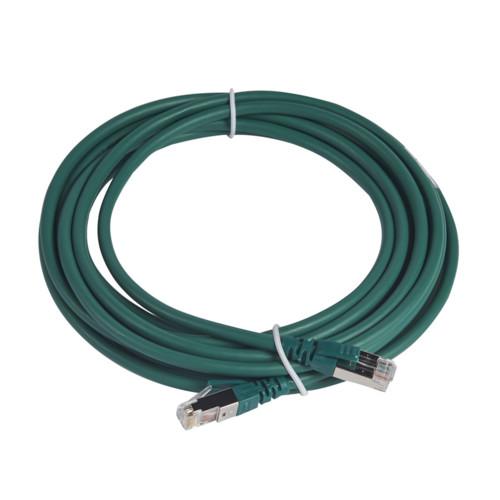 Шнур коммутационный RJ 45 - категория 6a - S/FTP - LSZH - экранированный - 5 м - зеленый