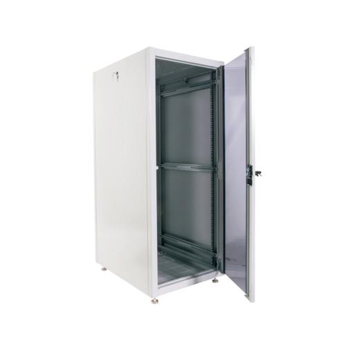 Серверный шкаф ЦМО Шкаф телекоммуникационный напольный ЭКОНОМ 18U (600 × 600) дверь стекло, дверь металл (ШТК-Э-18.6.6-13АА)