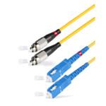 Оптический патч-корд АЗОП 2SС/UPC-2FC/UPC SM 9/125 Duplex 3.0мм 0.5 м