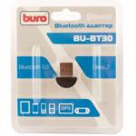 Аксессуар для ПК и Ноутбука Buro Адаптер USB BU-BT30 Bluetooth 3.0+EDR class 2 10м черный