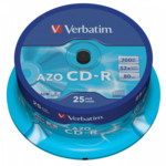 Оптический привод Verbatim Диск CD-R 700Mb 52x Cake Box (25шт)
