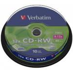 Оптический привод Verbatim Диск CD-RW 700Mb 10x Cake Box (10шт)