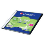 Оптический привод Verbatim Диск CD-RW 700Mb 12x Slim case (1шт)