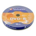 Оптический привод Verbatim Диск DVD-R 4.7Gb 16x bulk (10шт)