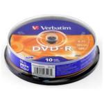 Оптический привод Verbatim Диск DVD-R 4.7Gb 16x Cake Box (10шт)