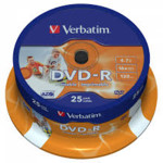 Оптический привод Verbatim Диск DVD-R 4.7Gb 16x Cake Box (25шт)