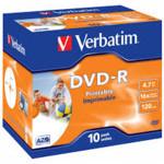 Оптический привод Verbatim Диск DVD-R 4.7Gb 16x Jewel case (10шт)
