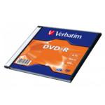 Оптический привод Verbatim Диск DVD-R Verbatim 4.7Gb 16x Slim case (1шт)