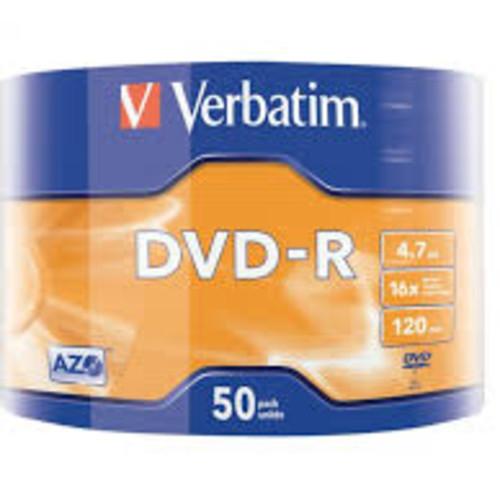 Оптический привод Verbatim Диск DVD-R 4.7Gb 16x Cake Box (50шт) (43788)