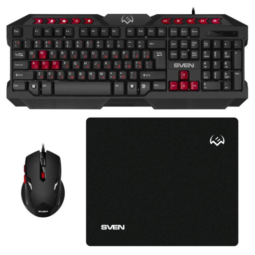 Клавиатура + мышь Sven Игровой набор клавиатура, мышь, коврик GS-9200 (1301444)