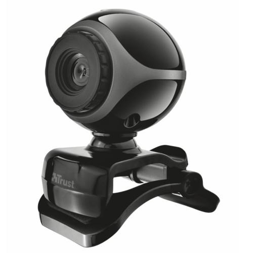 Веб камеры Trust Веб-камера Exis Webcam Black-Silver (1314581)