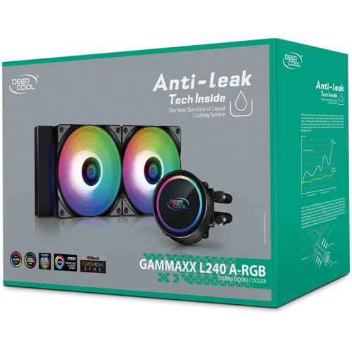 Охлаждение Deepcool C водяным охлаждением GAMMAXX L240 A-RGB (DP-H12CF-GL240-ARGB)