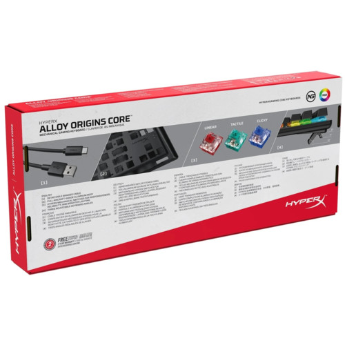 Клавиатура HyperX Alloy Origins Core (HX-KB7BLX-RU)