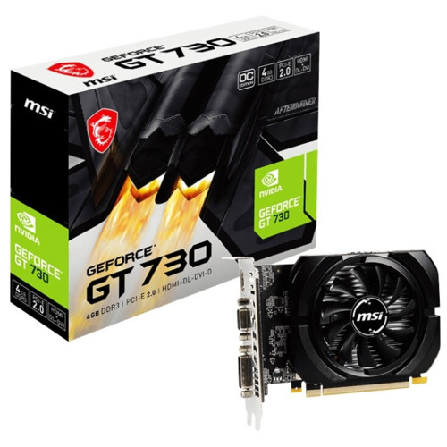Видеокарта MSI GeForce GT 730 4GB (N730K-4GD3/OCV1) (N730K-4GD3/OCV1)