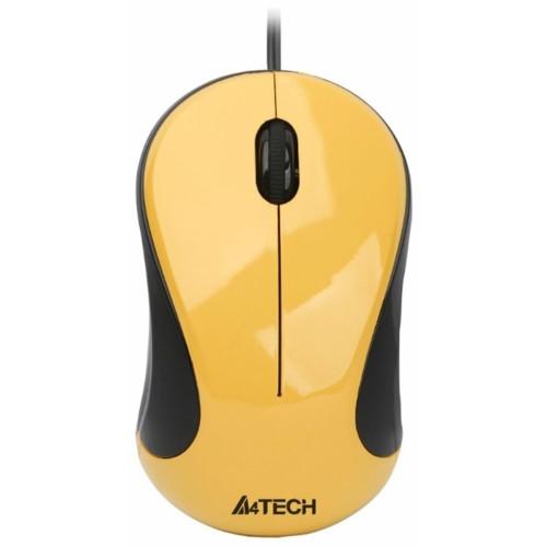 Мышь A4Tech N-320-2 YELLOW (N-320-2 YELLOW)