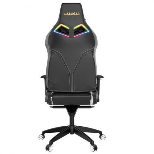 Gamdias Игровое кресло ACHILLES P1 L Black/White (ACHILLES P1 L BW)