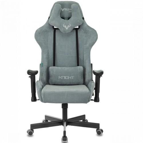 Бюрократ Игровое кресло Zombie VIKING KNIGHT Fabric серо-голубой (Z-VIKING-KNIGHT-LT-28-GR/BL)