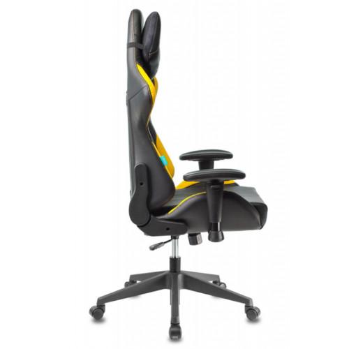 Бюрократ Игровое кресло Zombie VIKING 5 AERO черный/желтый (Z-VIKING-5-AERO-B/Y)