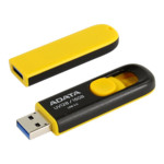 USB флешка (Flash) ADATA AUV128-16G-RBY 16GB - Black/Yellow