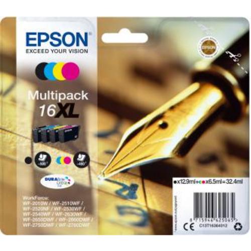 Струйный картридж Epson Набор из четырех картриджей 16XL (C13T16364012)