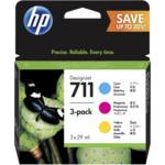 Картридж для плоттеров HP 711 голубой/пурпурный/желтый