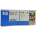 Картридж для плоттеров HP Q2672A желтый