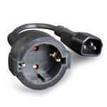 Распределитель питания Cablexpert Удлинительный кабель, 15см, C14