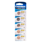Батарейка CAMELION Lithium CR1620-BP5 - 5штук (Блистер)