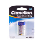 Батарейка CAMELION Super Heavy Duty 6F22-BP1B - 1штука (Блистер)