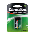 Батарейка CAMELION Super Heavy Duty 6F22-SP1G - 1штука (Блистер)