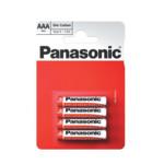 Батарейка Panasonic Red Zinc ААА/4B - 4штуки (Блисер)