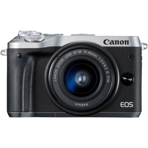 Фотоаппарат Canon EOS M6 + EF-M 15-45mm Kit Silver (1725C012)