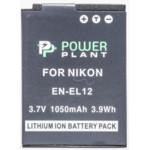 Аксессуар для фото и видео PowerPlant Аккумулятор Nikon EN-EL12 1050mAh